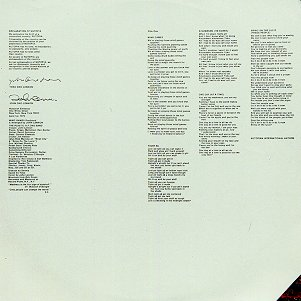 Mind Games - Front Inner Sleeve