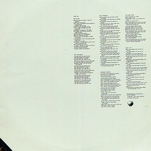 Mind Games - Rear Inner Sleeve